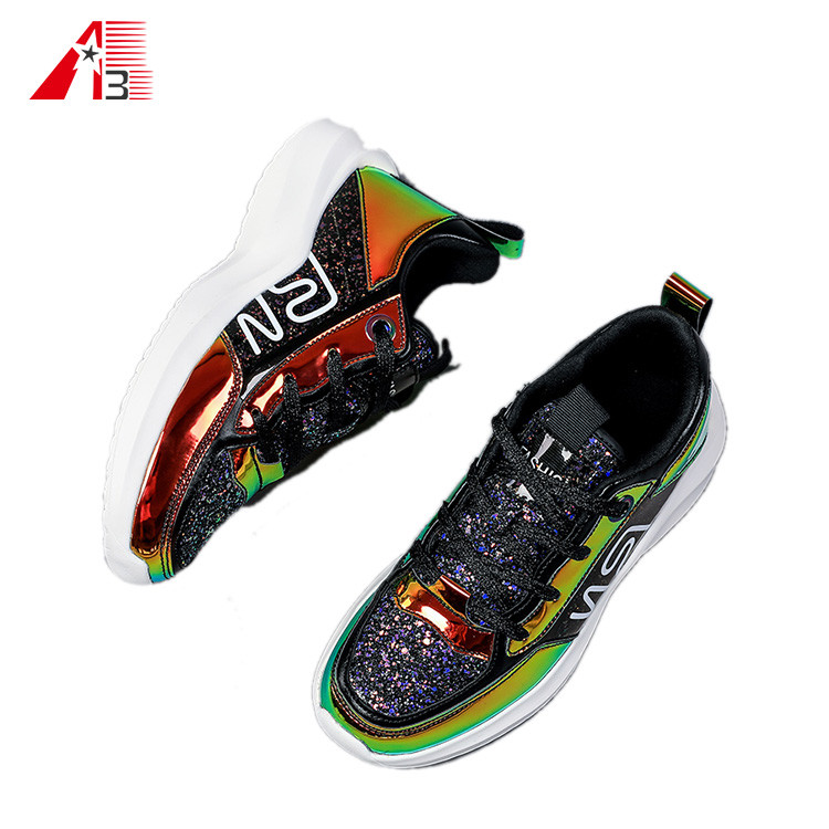 Colorful Glossy Fashion Comfortable Versatile Shoes for Men