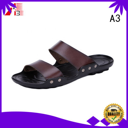 A3 Customized mens footwear sandals company for beach activities