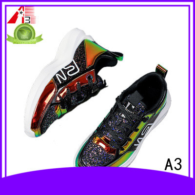 Comfortable purple sneakers factory for sport