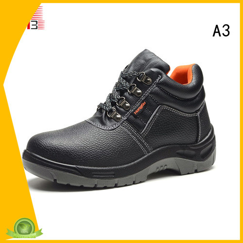 A3 mens steel toe boots factory for work place