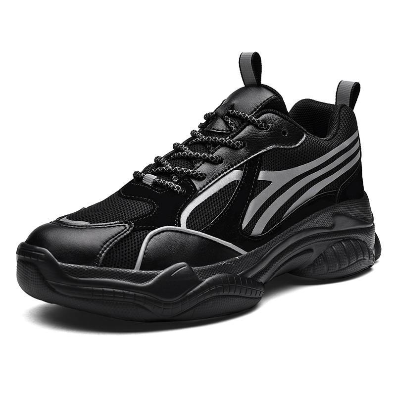 Sneakers Shoes Men's Sneakers Leather Casual Walking Shoes Waterproof