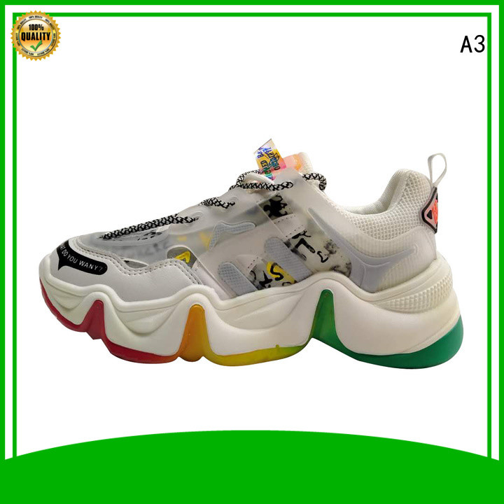 A3 Customized women's casual shoes manufacturer for sport