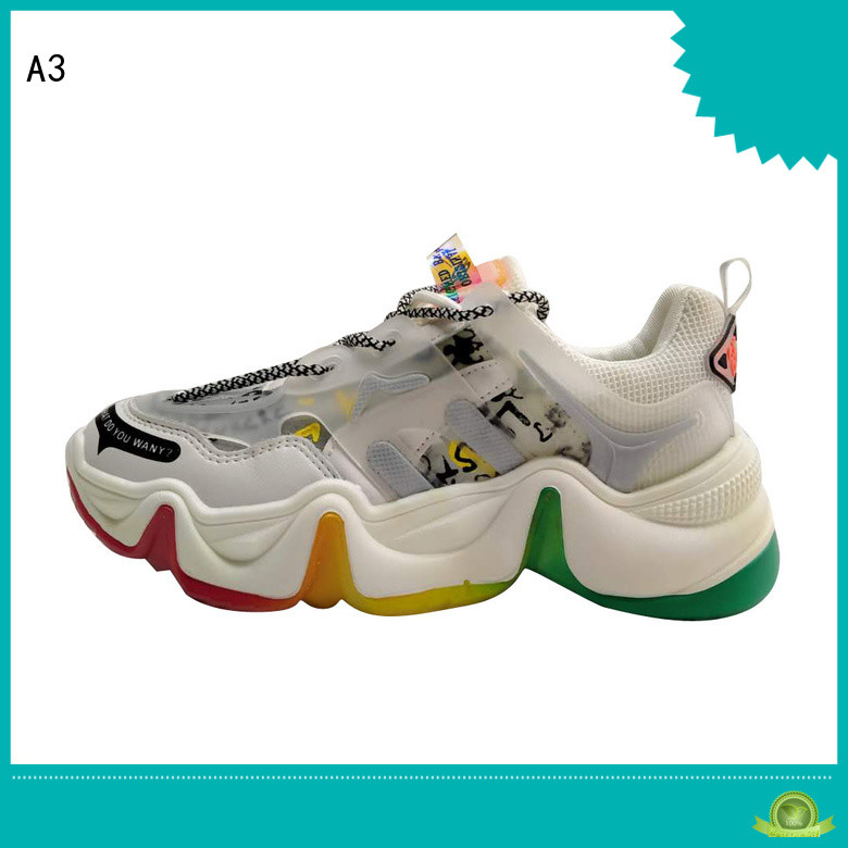 A3 ladies casual trainers manufacturer for sport